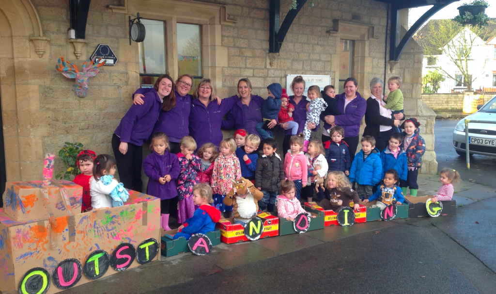 The Old Station Nursery team and children