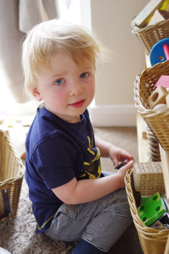 Children playing on nursery floor