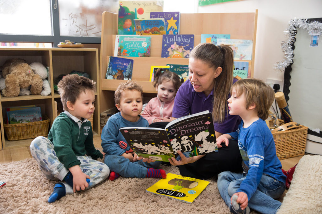 Story time with nursery staff
