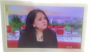 Purnima on BBC Breakfast